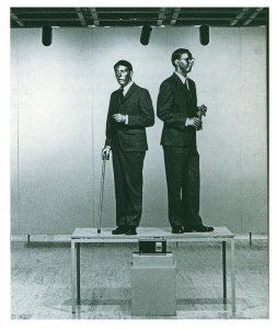 Gilbert & Georges, The singing sculpture, 1969 {JPEG}